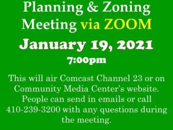 1-19-21 P & Z Meeting ZOOM
