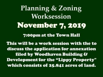 11-7-19 P & Z Worksession