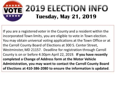 2019 ELECTION page 1
