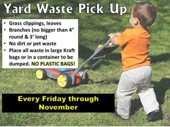 2019 yard waste info