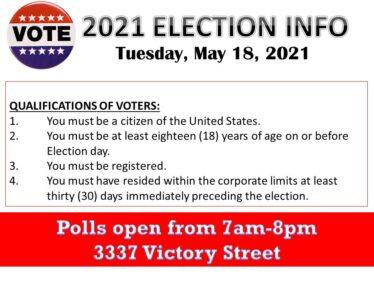 2021 Election notice