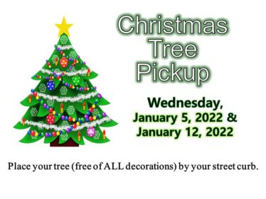2022 Christmas tree pickup