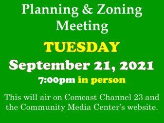 9-21-21 P & Z Meeting