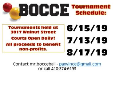 BOCCE 2019 SCHEDULE revised