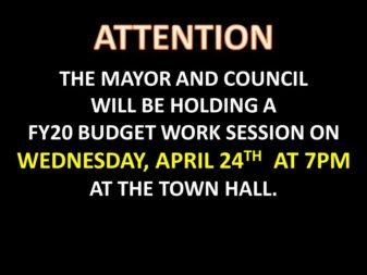 FY20 budget work session Apr 24