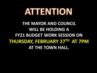 FY21 budget work session Feb 27