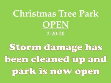 Park open now 2-20-20