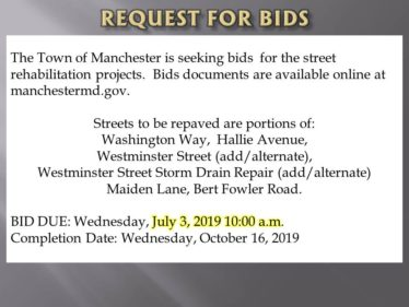 ROAD BIDS due 7-3-19