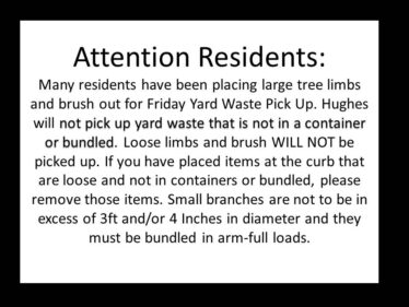 Yard Waste Pickup issues 9-25-20