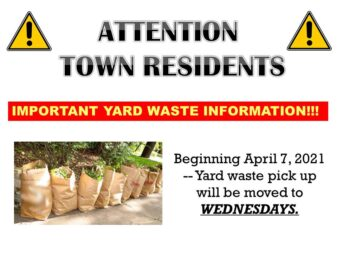 Yard Waste date change 4-7