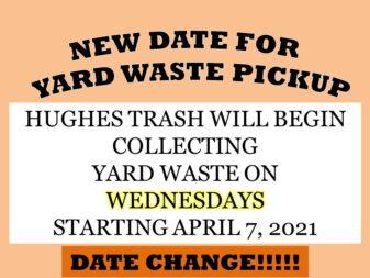 Yard waste date change reminder