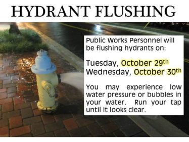 hydrants FLUSHING OCT