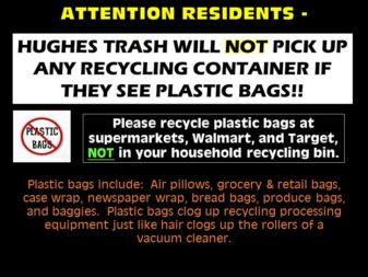 no trash bags in recycling bin 2-25-19