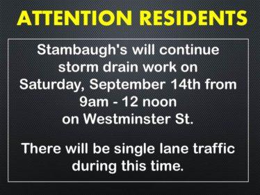 storm drain repair on West St 9-14-19